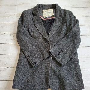 Antho Cartonnier sweater blazer lined gray
